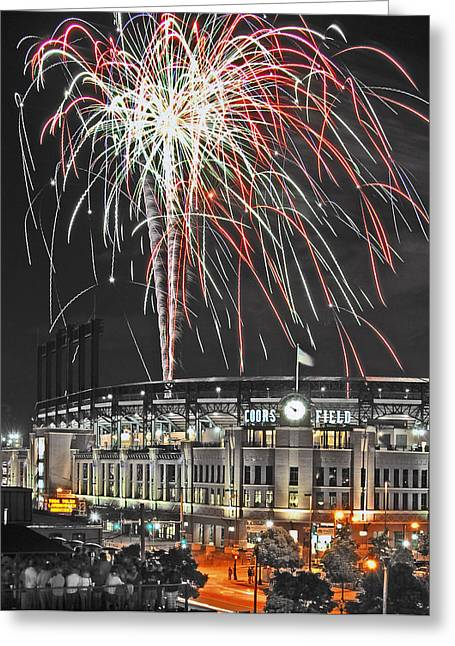 Fireworks Greeting Cards - Gothic Lumination Greeting Card by Kevin Munro