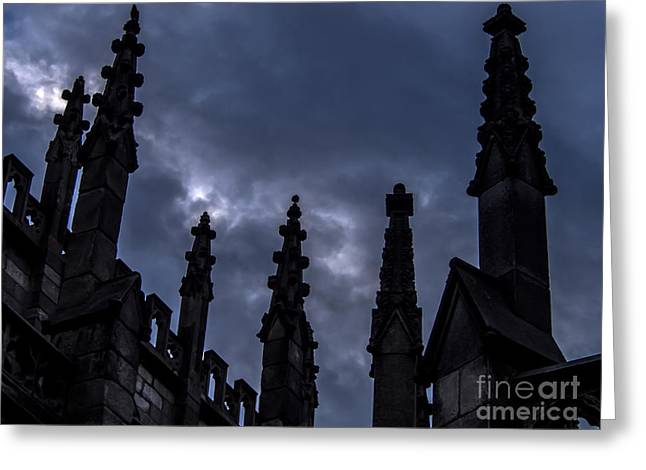 Roiling Greeting Cards - Gothic Storm Greeting Card by James Aiken