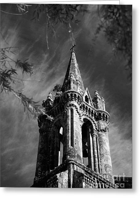 Tower Greeting Cards - Gothic style Greeting Card by Gaspar Avila