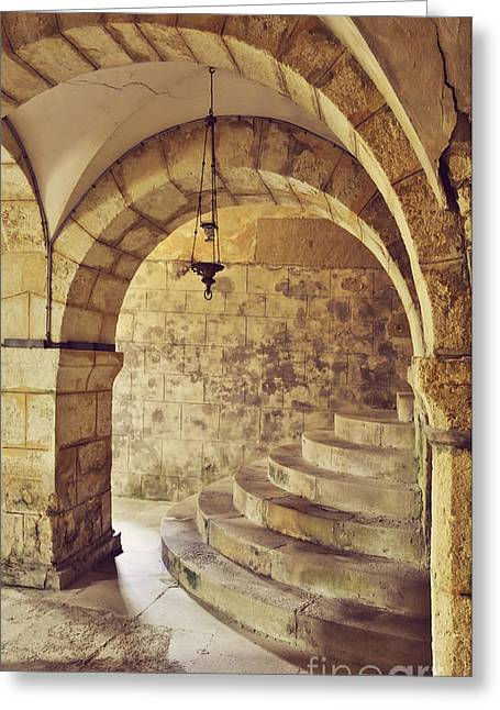 Stepping Stones Greeting Cards - Gothic underground Greeting Card by Skyfish Images