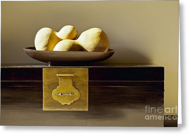 Gourds Still Life I Greeting Card by Kyle Rothenborg - Printscapes