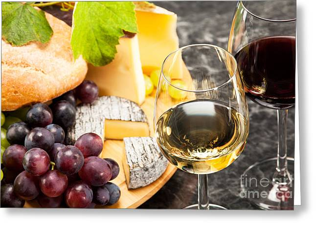 Alcohol Greeting Cards - Gourmet food Greeting Card by Wolfgang Steiner