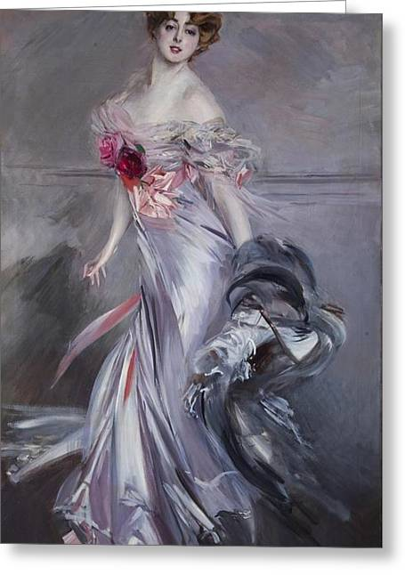 governess to the Elysian Fields Greeting Card by Giovanni Boldini