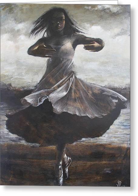 Ballet Dancers Greeting Cards - Grace And Movement Greeting Card by Vali Irina Ciobanu