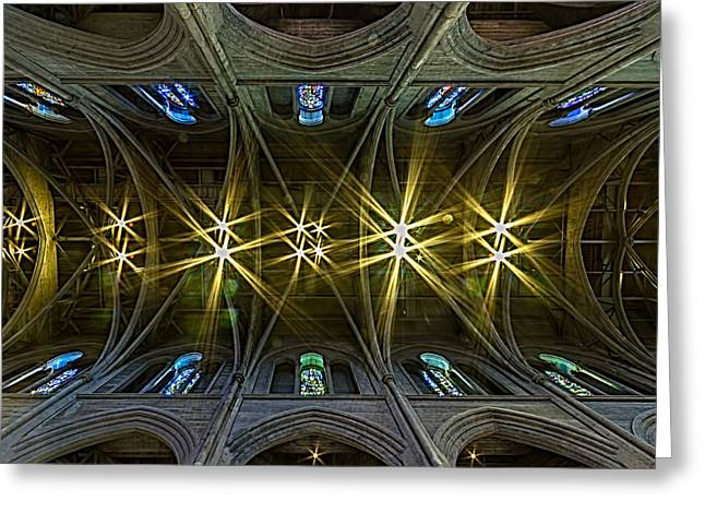 Bill Gallagher Greeting Cards - Grace Cathedral Starburst Greeting Card by Bill Gallagher