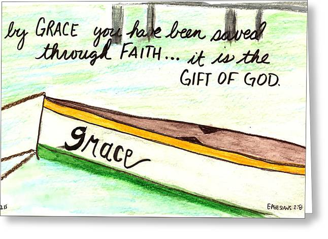 Devotional Mixed Media Greeting Cards - Grace Gift Greeting Card by Kristen Williams