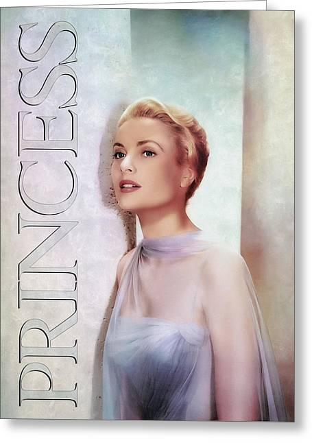 Grace Kelly - Princess Greeting Card by Darlanne