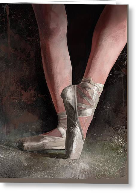 Ballerina Digital Greeting Cards - Graceful Slippers Greeting Card by Steve Goad