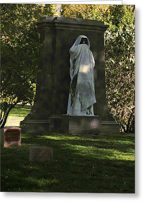 Headstones Greeting Cards - Graceland Chicago - The place where the spirits roam Greeting Card by Christine Till