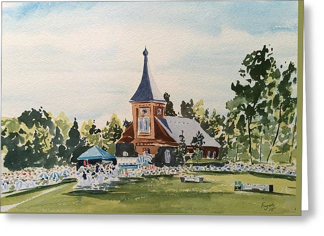 Lee Chapel Greeting Cards - Graduation Day  Greeting Card by Robert Fugate