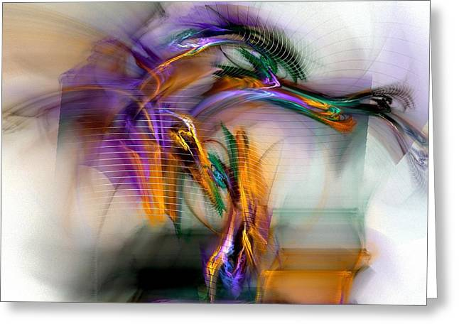 Digital Art Greeting Cards - Graffiti - Fractal Art Greeting Card by NirvanaBlues