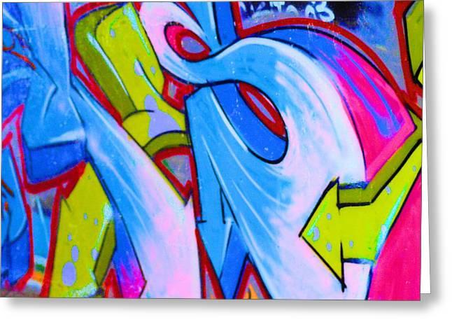Splashy Greeting Cards - Graffiti Art 19 Greeting Card by Cindy Nunn