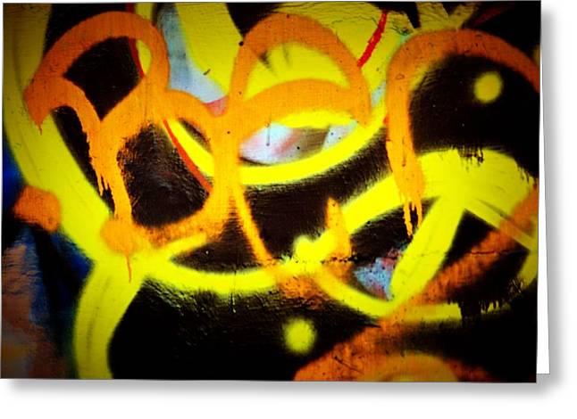 Splashy Greeting Cards - Graffiti Art 2 Greeting Card by Cindy Nunn