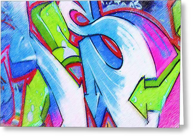 Intrigue Greeting Cards - Graffiti Art 39 Greeting Card by Cindy Nunn