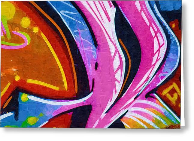 Intrigue Greeting Cards - Graffiti Art 40 Greeting Card by Cindy Nunn
