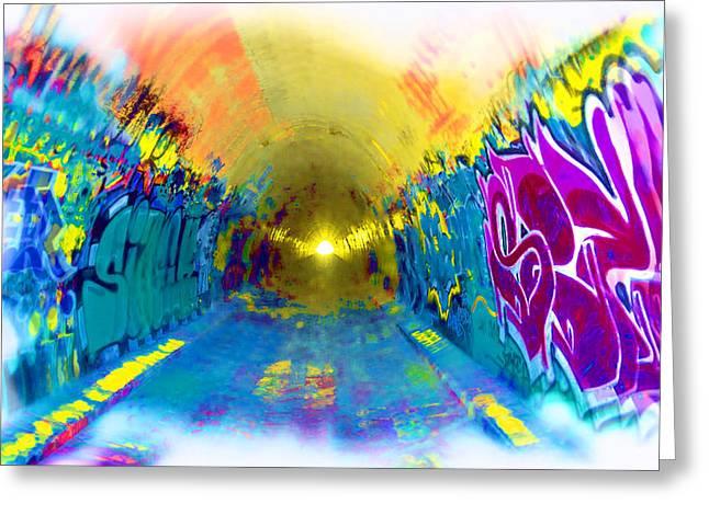 Intrigue Greeting Cards - Graffiti Art 42 Greeting Card by Cindy Nunn