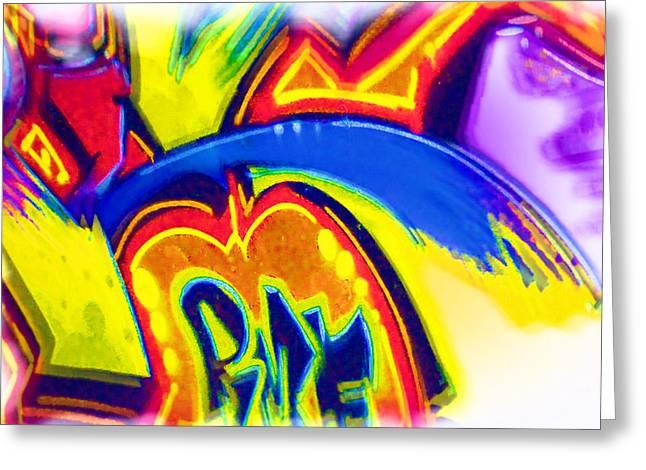 Intrigue Greeting Cards - Graffiti Art 44 Greeting Card by Cindy Nunn