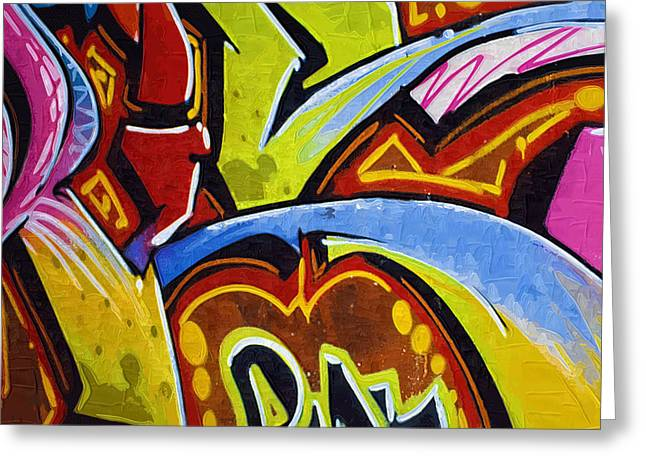 Intrigue Greeting Cards - Graffiti Art 46 Greeting Card by Cindy Nunn