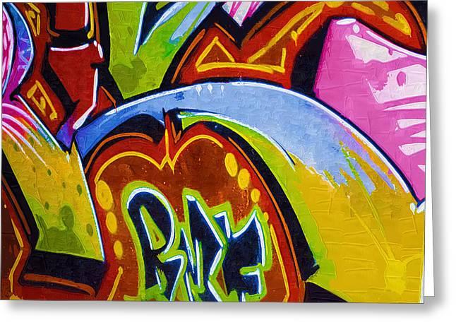 Intrigue Greeting Cards - Graffiti Art 48 Greeting Card by Cindy Nunn
