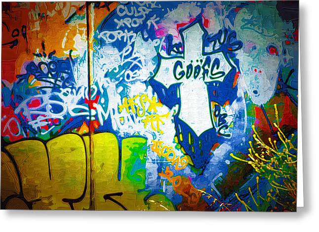 Intrigue Greeting Cards - Graffiti Art 49 Greeting Card by Cindy Nunn