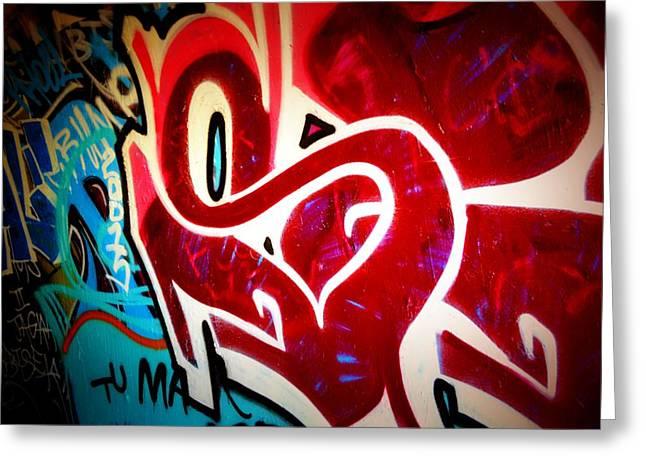 Intrigue Greeting Cards - Graffiti Art 52 Greeting Card by Cindy Nunn