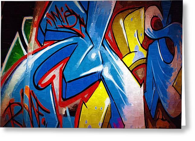 Intrigue Greeting Cards - Graffiti Art 53 Greeting Card by Cindy Nunn