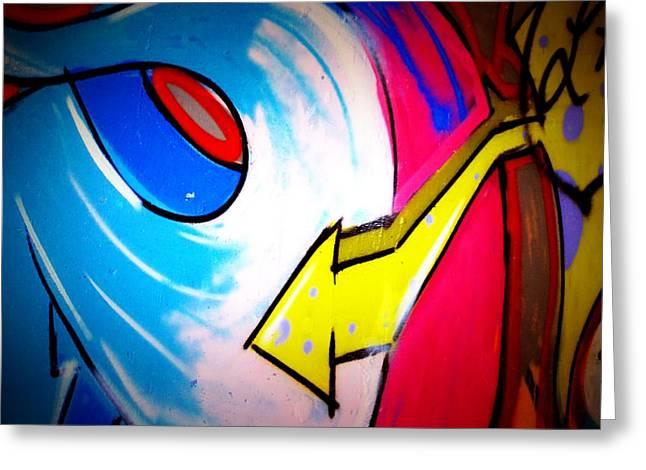 Intrigue Greeting Cards - Graffiti Art 55 Greeting Card by Cindy Nunn
