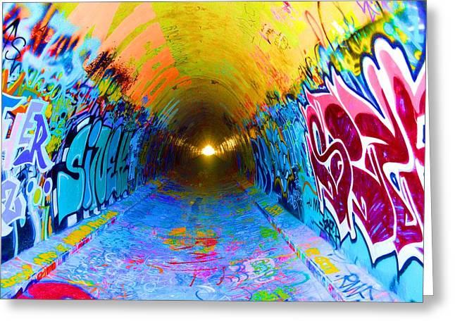 Intrigue Greeting Cards - Graffiti Art 56 Greeting Card by Cindy Nunn