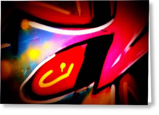 Intrigue Greeting Cards - Graffiti Art 62 Greeting Card by Cindy Nunn