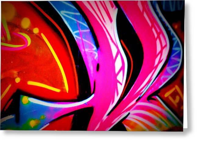 Intrigue Greeting Cards - Graffiti Art 63 Greeting Card by Cindy Nunn