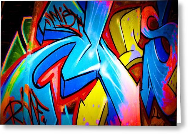 Intrigue Greeting Cards - Graffiti Art 64 Greeting Card by Cindy Nunn