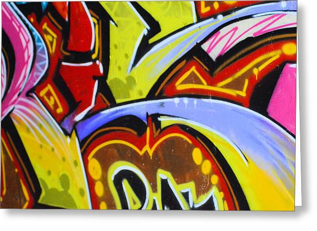Splashy Greeting Cards - Graffiti Art 8 Greeting Card by Cindy Nunn