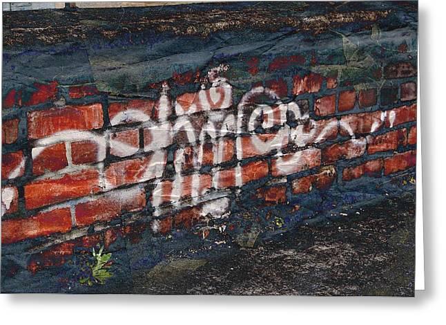 Street Graffiti Greeting Cards - Graffiti Greeting Card by Cathie Tyler
