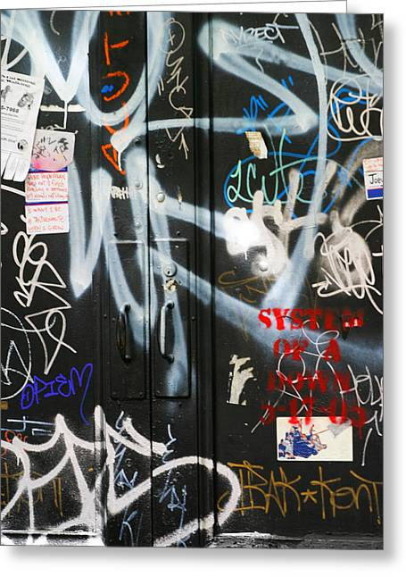 Chuck Kuhn Greeting Cards - Graffiti  Greeting Card by Chuck Kuhn
