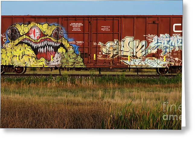 Graffiti Genius 6 Greeting Card by Bob Christopher