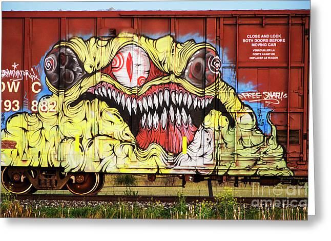 Graffiti Genius 7 Greeting Card by Bob Christopher