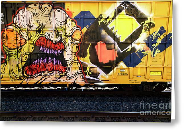 Graffiti Genius 8 Greeting Card by Bob Christopher
