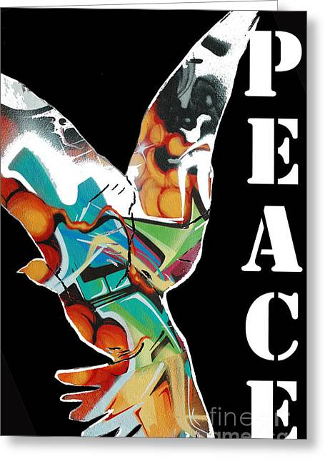 Fancy Eye Candy Greeting Cards - Graffiti Peace Art Poster Greeting Card by ArtyZen Studios - ArtyZen Home