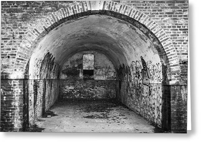 Puddle Paint Greeting Cards - Graffiti Tunnel Greeting Card by Chris Dale