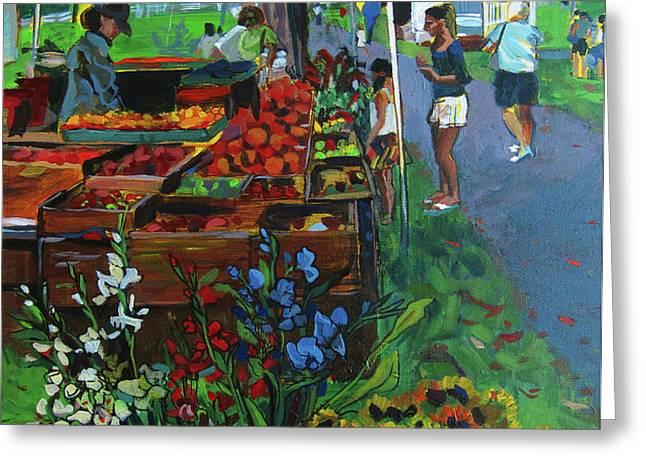 Grafton Farmer's Market Greeting Card by Allison Coelho Picone