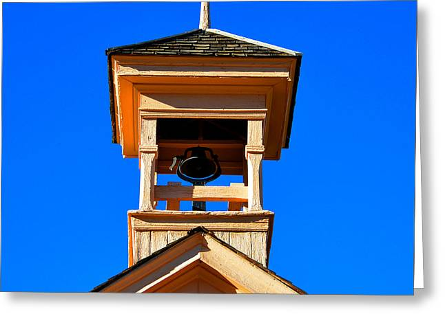 Old School House Greeting Cards - Grafton school house bell tower 1886 Greeting Card by David Lee Thompson