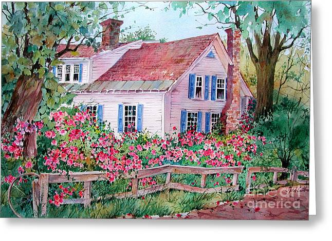 Grafton Vermont Greeting Cards - Grafton Village House Greeting Card by Sherri Crabtree