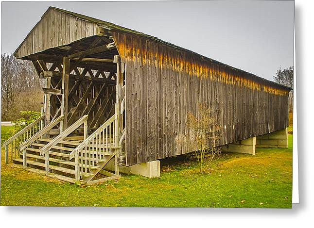 Graham Rd Covered Bridge Greeting Card by Jack R Perry