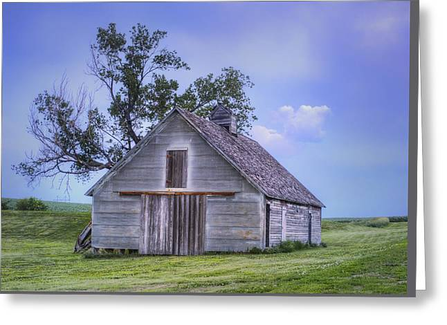 Field. Cloud Greeting Cards - Grain Barn - Sundown Greeting Card by Nikolyn McDonald