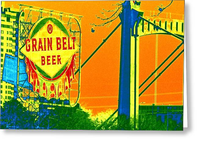 Hennepin Greeting Cards - Grain Belt 2 Greeting Card by Rashelle Brown