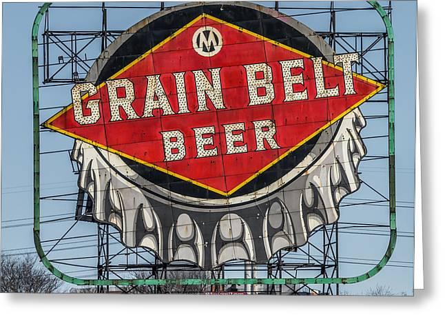 Grain Belt Beer Sign Greeting Card by Paul Freidlund