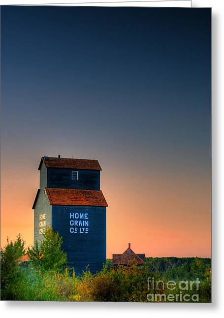 Grain Elevator Greeting Card by Ian MacDonald
