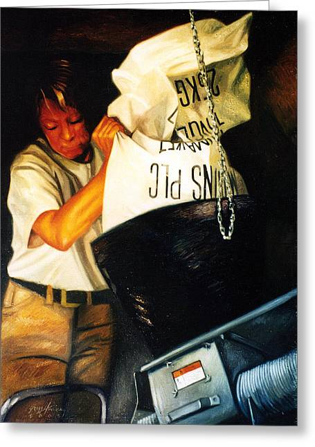 Malt Paintings Greeting Cards - Grain Mill Greeting Card by Gregg Hinlicky