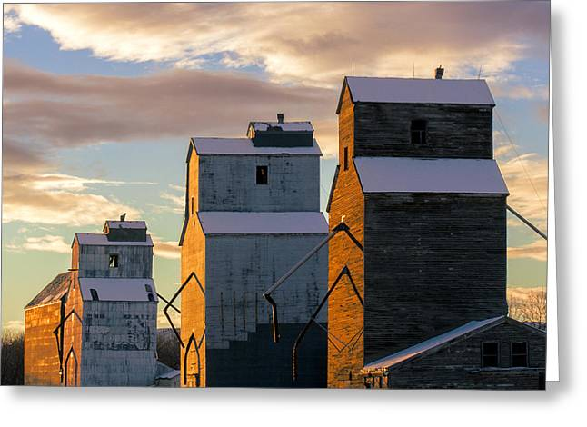 Grainery Row Square Greeting Card by Todd Klassy