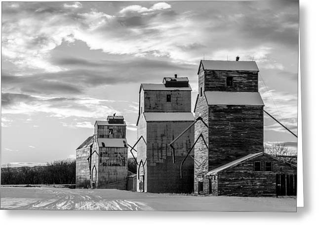 Grainery Row Greeting Card by Todd Klassy